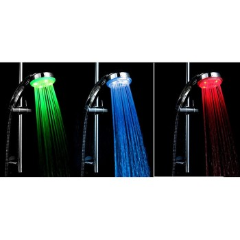 Shower head 3 colors led round chrome depending on the temperature of the water