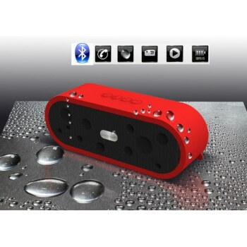 Speaker portable Bluetooth black resists moisture IP65 integrated microphone to answer phones