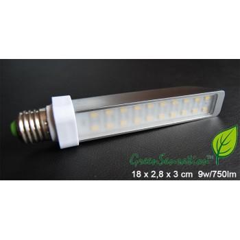 Lampadina Led E27 9w illuminazione piatta alluminio ultra economica Green Sensation