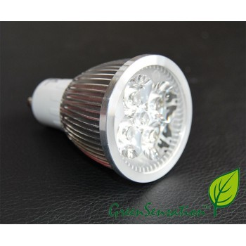 White neutral 4w GU10 LED light bulb high intensity GreenSensation