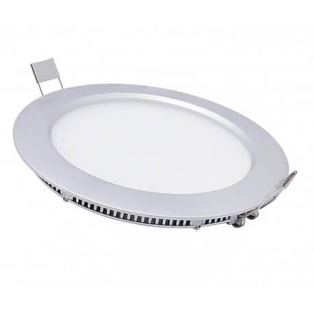 Panel led 9w white hot 14.5 cm round + transformer