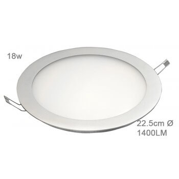 LED panel round 18w white neutral 22.5 cm 43/60v