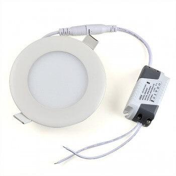 Panneau à LED rond 9W Blanc Neutre 14.5 cm + transformateur