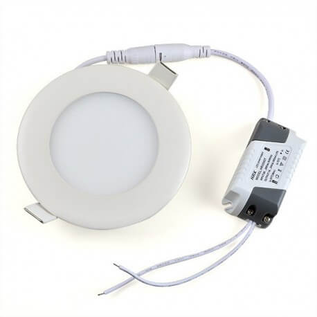Panel round led 9W white neutral 14.5 cm + transformer
