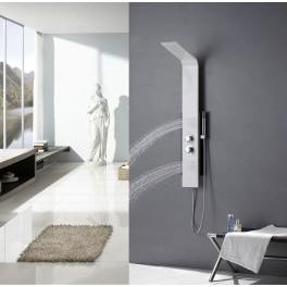 colonne de douche baln o en aluminium blanc et noir 120x21cm a120. Black Bedroom Furniture Sets. Home Design Ideas