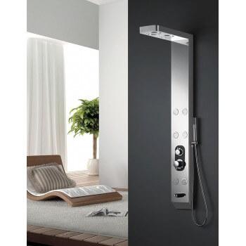 Nella colonna doccia in acciaio inox 150 X 18 x 8 cm S168 balneo