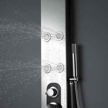 En la columna de ducha de acero inoxidable 150 X 18 x 8 cm S168 balneo