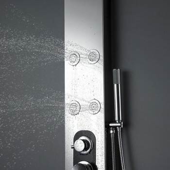 Whirlpool Duschsäule aus Aluminium 150 X 18 x 8 cm S168