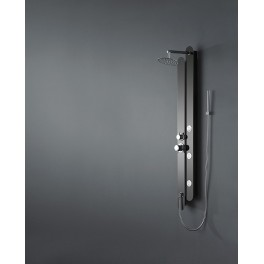"Shower balneo stainless black finish ""black mirror"" 150X18cm S172"