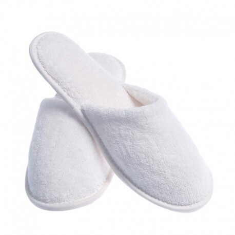 LOT of 20 pair of closed shoes slipper sponge disposable white for spa, hotel, spa, swimming pool...