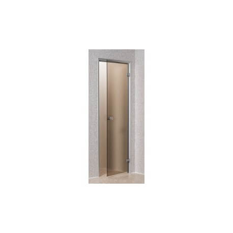 Hammam Bronze 70 x 190 cm tempered glass security door aluminum frame