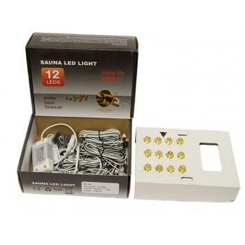 Kit éclairage pour Sauna 9,6 W - 12 spots (0,8W) Led à encastrer