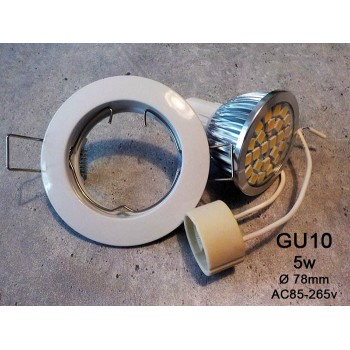 spot white built-in LED GU10 5w neutral white 4500 k 220v