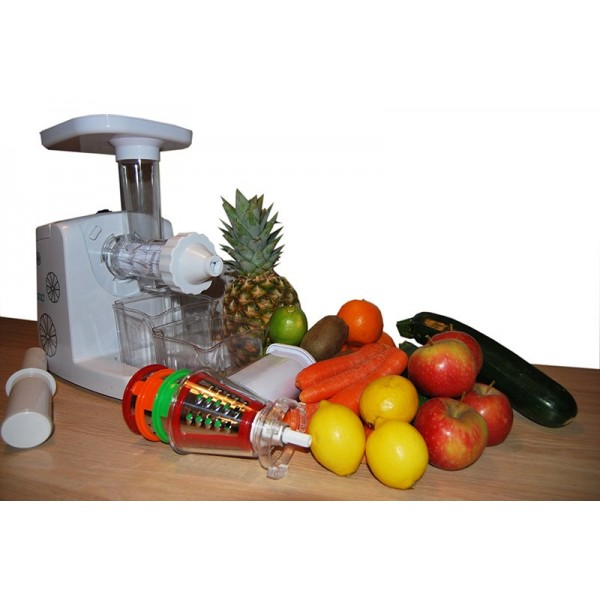 Slow Juicer 80 RPM Extractor for juice fruit and vegetables with offered grater - Desineo