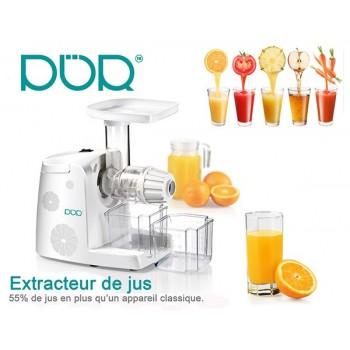 Slow Juicer 80t/min extracteur pour Jus de fruit et de légumes avec râpe offerte