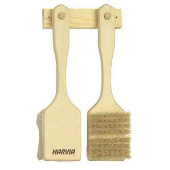 Lote de dos cepillos Harvia sauna natural fibra cuerpo