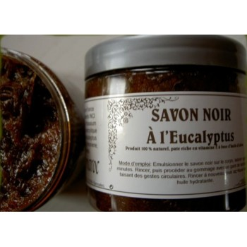 Black SOAP 100% natural eucalyptus 200 ml