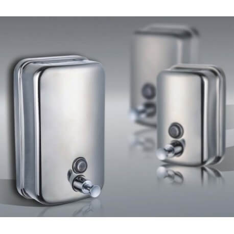 SOAP dispenser stainless steel anti vandalism 1 liter
