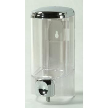 Distributor von Seife 300 ml transparent 14,5 x 7 x 7 cm
