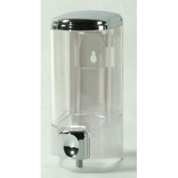 Seifenspender, 300 ml, transparent, 14,5 x 7 x 7 cm für Badezimmer, Privat oder Geschäfte