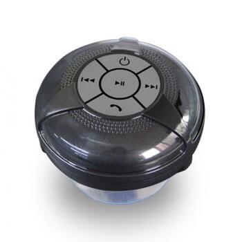 Altavoz Bluetooth de baño negro resistente a la humedad