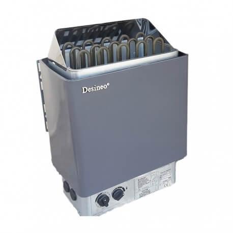 Po/êle pour sauna 4,5/kW pour 230/ou 380/V avec commande int/égr/ée
