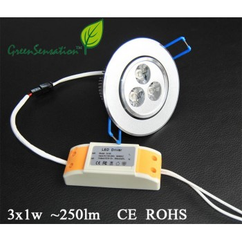 Integrierte und verstellbare Spot für Decke leuchtet Led 3 W - 250 Lumen + 12v Transformator