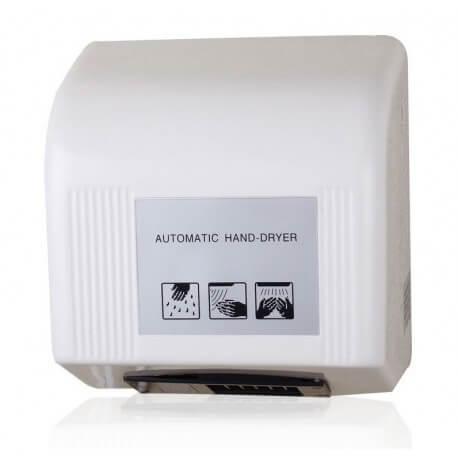 Sèche-mains blanc Automatique 1800w à déclenchement infrarouge