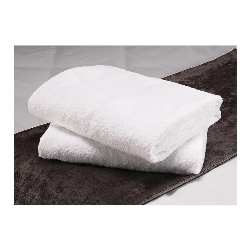 lot de 5 serviettes de bain blanches 50 x100 cm 100 coton 500g m2. Black Bedroom Furniture Sets. Home Design Ideas