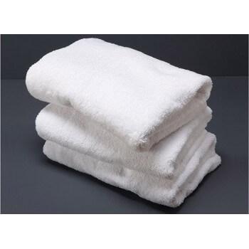 Lot de 5 Serviettes de bain blanches 50 x100 cm 100% coton 500g/m2
