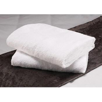 Lot of 10 towels 70 x 140 cm white 100% cotton 500 g/m2