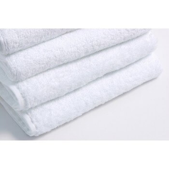 Lot of 10 towels 70 x 140 cm white 100% cotton 500 g/m2