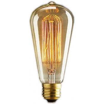 Vintage Lampe Edison E14 ST48 - 6 Fäden 11 x 5 cm 40W Glühbirne