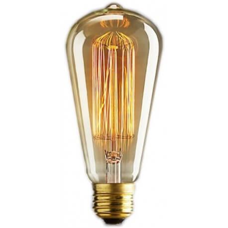 Bulb vintage Edison E14 ST48 - 6 filaments 11 x 5 cm 40W bulb