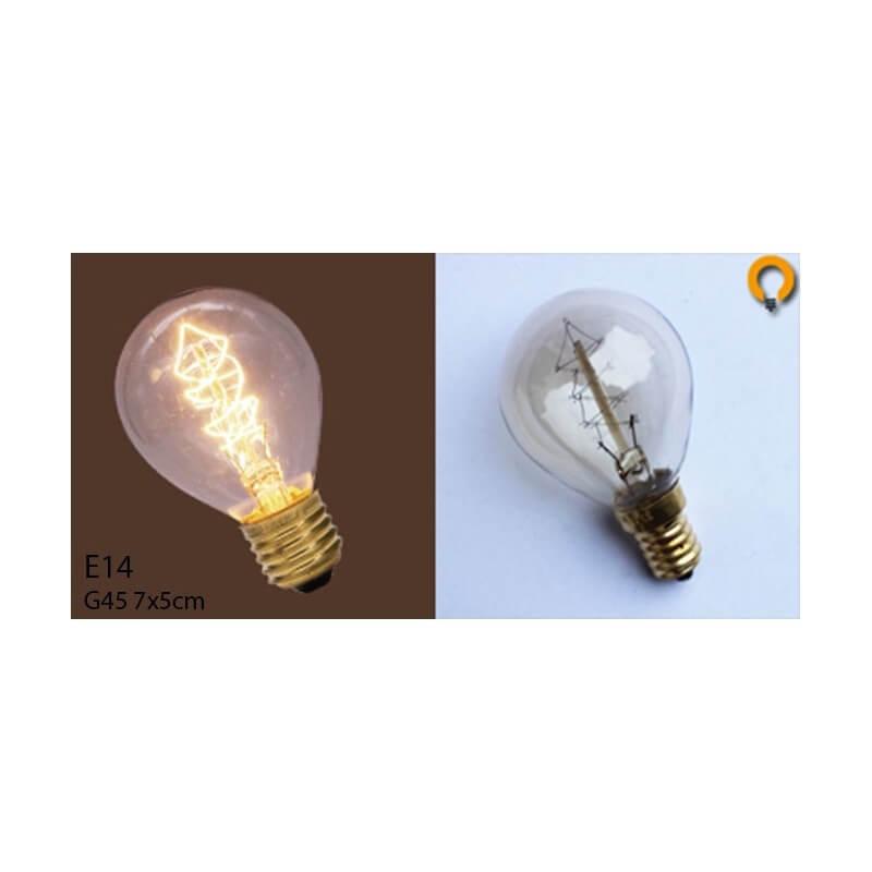 ampoule vintage bulb edison e14 g45 spirale desineo. Black Bedroom Furniture Sets. Home Design Ideas