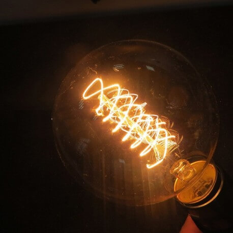 Lamp vintage bulb Edison E14 G45 spiral