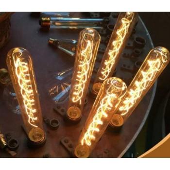 Lot of 3 vintage bulb Edison E27 T9-185 tube