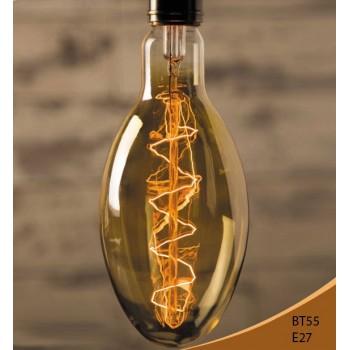 Ampoule vintage bulb Edison E27 BT55 40W incandescente à filaments