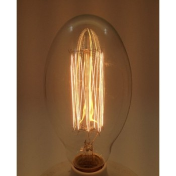 Vintage bulb incandescent bulb Edison E27 BT75 apparent filaments