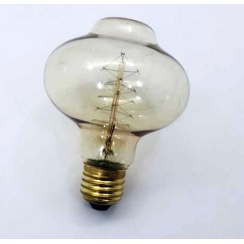 Set di 3 vintage alla spirale di filamento lampadina Edison E27 BR85