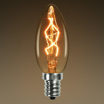 Vintage bulb Edison E14 C35 incandescent light bulb