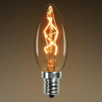 Vintage bulb Edison E14 C35 incandescent light bulb