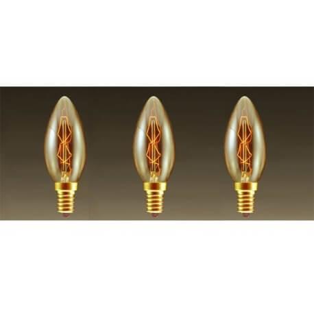 Lots of 3 lamps vintage bulb Edison E14 C35