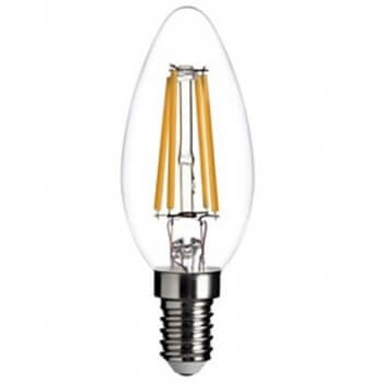 Set of 3 vintage LED E14 style bulb edison C35