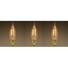 3 lamps vintage led C35 E14 style bulb Heather