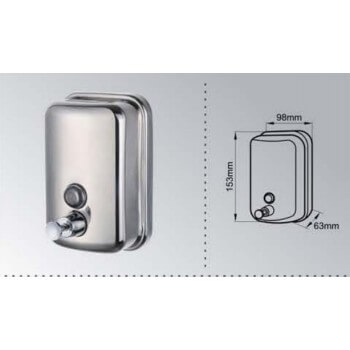 Anti-vandalism soap box in stainless steel 500ml