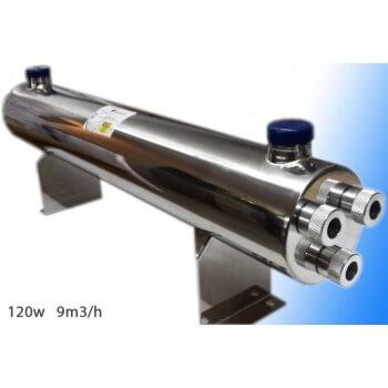 120W UV Sterilisator (9 m3/St.) mit Philips Glühlampe + Vorschaltgerät einbaufertig