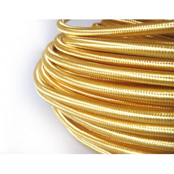 Woven wire color Gold vintage retro fabric look