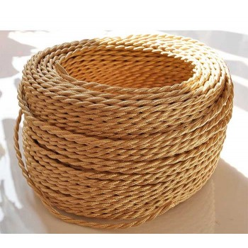 Braided wire color straw vintage retro fabric look