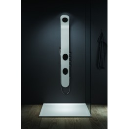 Shower balneo A055 150x20cm black and white